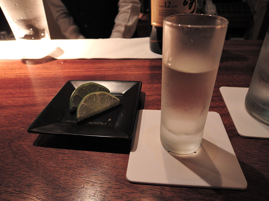 Tequila Blanco and Lime