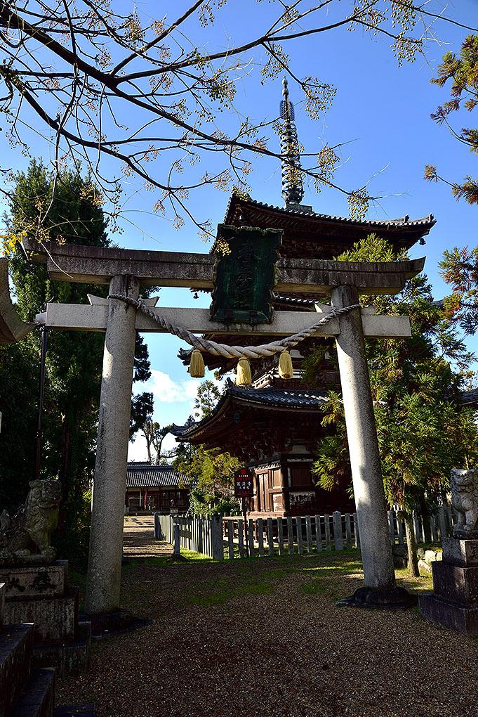 百済寺と春日若宮神社